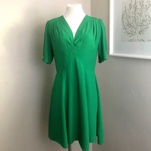 ASOS Dresses - ASOS | Green Pleated Dress